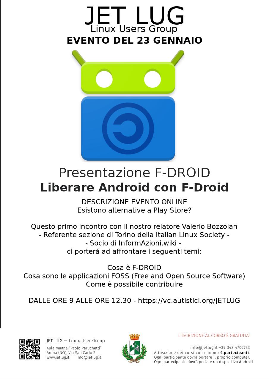 Liberare Android con F-Droid – 23 gennaio 2021